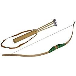 Juguetutto - Arco Punta Ventosa VERDE. Con este arco de madera grande cualquier niño se lo pasará en grande lanzando sus flechas incorporadas