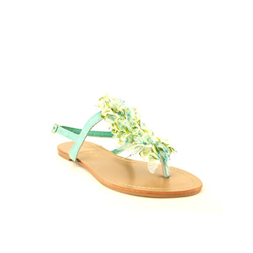 Cendriyon Tong Froufrou Tulles Liberty Vert Chaussures Femme Vert