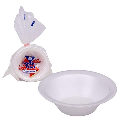 Weiß Schaumstoff Schüssel 10Pack-Handbeil Kapazität-Einweg Schale Party Pack