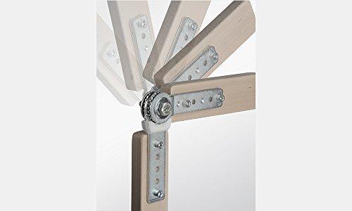 Gedotec Rasthochstell-Beschlag Polstergelenk C25 Rastomat 180° | Armlehnenversteller 11-fach verstellbar | Nackenlehnenversteller Stahl verzinkt | 2 Stück
