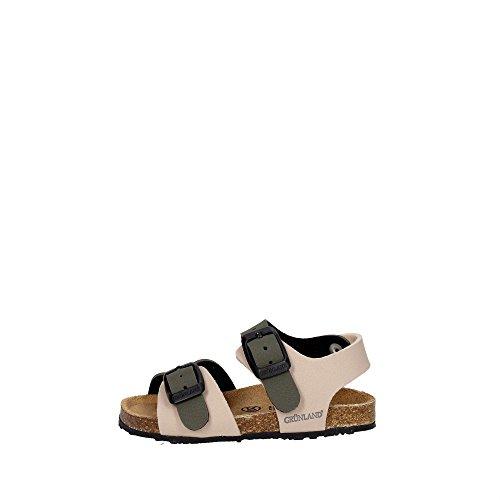 Grünland AFRE SB0413 beige taupe sandales bébé boucles Birk BEIGE-OLIVA