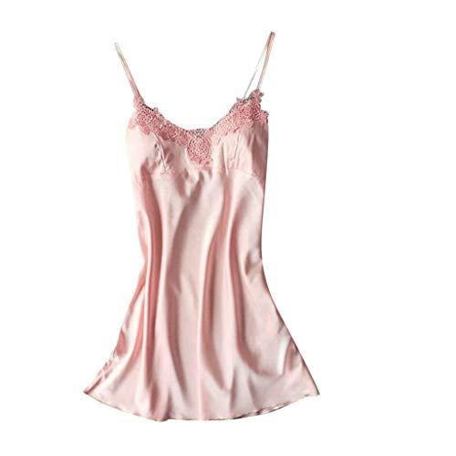 CICIYONER Damen Schlafrock Frauen Nachtwäsche Nighte Kleid Plus Size Lace Bow Dessous Babydoll S-3XL