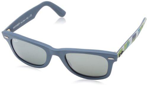 Ray Ban Unisex Sonnenbrille Wayfarer Original, Gr. Small (Herstellergröße: 50), Mehrfarbig (multi blau 606140)