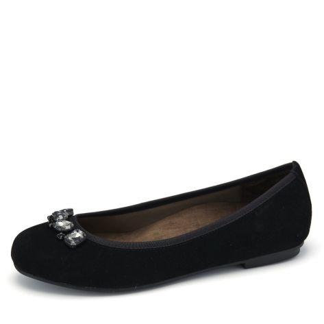 Vionic  Kiska Ballerina Pump, Sandales femme Noir