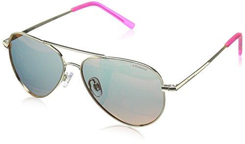 Polaroid Unisex-Kinder PLD 8015/N AI J5G Sonnenbrille, (Gold Pink Grey Speckled Pz), 52
