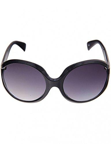 Leslii große elegante XXL Damen-Sonnenbrille Boho-Look Schwarz schwarze Designer-brille