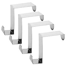Alta qualità Acciaio inossidabile Z Digitare Reversibile Al di sopra il gancio porta removibile Cubicolo Appendiabiti, gancio appendiabiti