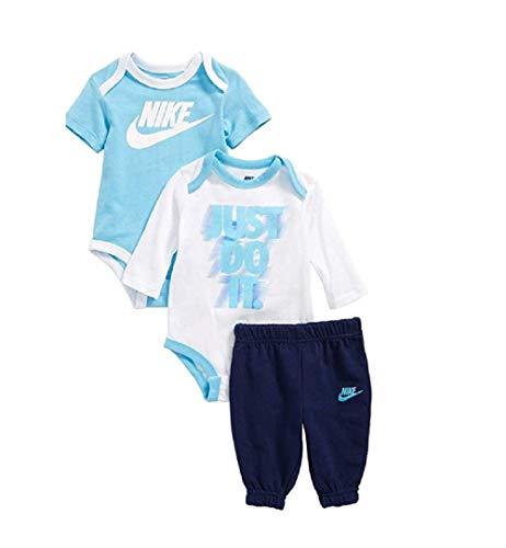 Nike Jordan Baby Boys' 3 Piece 2 Bodysuits and 1 Pants (6-9 Months, Binary Blue(56C064-B9K)/White/Obsidian) Baby Boy-white-hosen
