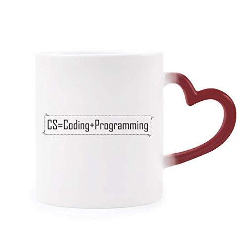 DIYthinker CS Enthält Codierung und Programmierung Morphing Becher-Hitze-Sensitive rotes Herz Cup...