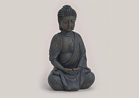 Buddha-Figur sitzend, betend 25cm in Braun | Deko-Artikel für Wohnung & Haus | Buddha-Skulptur, Wohnaccessoire ideal als Geschenk | Buddha-Statue Feng Shui Dekoration