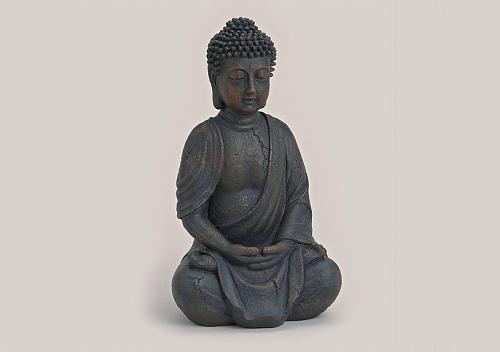 Buddha-Figur sitzend, betend 25cm in Braun