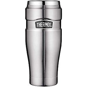 THERMOS 4002.205.047 Coffee-to-Go Thermobecher Stainless King, Edelstahl mattiert 0,47 l, 7 Stunden heiß, 18 Stunden kalt, BPA-Free