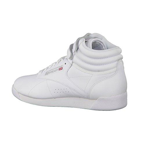 Reebok  Freestyle Hi, Baskets hautes femmes Blanc - White/Silver