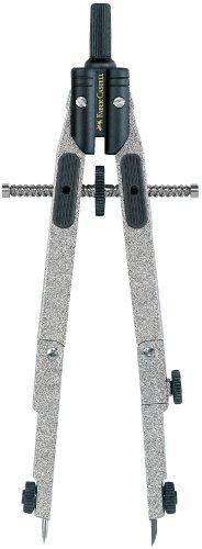 Faber-Castell 174014 - Schnellverstellzirkel mit Gelenk, für Zapfen 4.0 mm, silber