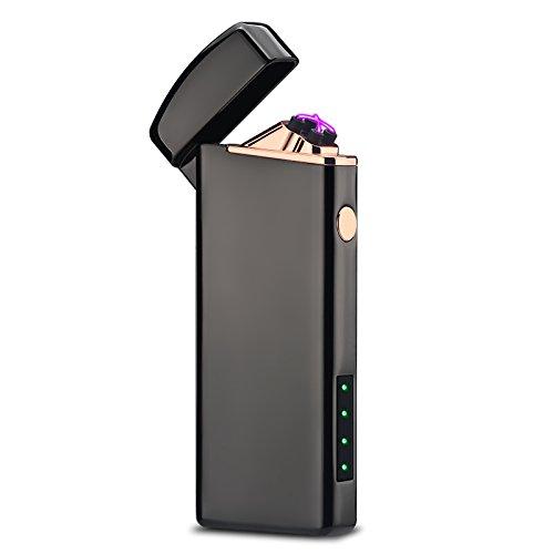 USB Feuerzeug Wiederaufladbar Elektronisches Feuerzeug (Black)