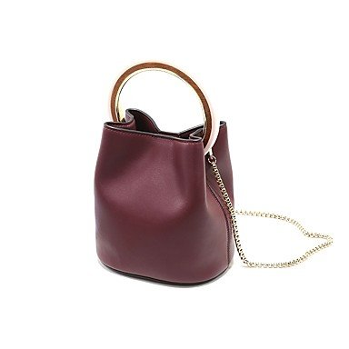 YJIUX Aus bestem Rindsleder Frauen Schultertasche PU alle SeasonsWedding Geburtstag Event / Party Business Casual Bühne offizielles Büro & Karriere Schule Beach Party & Abend Almond