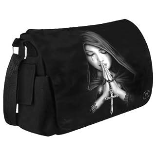 Anne Stokes Gothic Prayer Gym Uni School Messenger Bag Gothic Medieval Bag