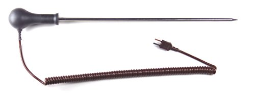 TME TP08 Thermosonde cuisson rallongée pour four ultrarésistante, 300 x 6 mm, Gris/Brown