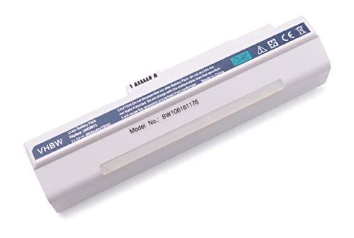 vhbw Batterie LI-ION 6600mAh 11.1V Blanc Compatible pour Acer Aspire remplace LC.BTP00.017, LC.BTP00.018 etc. pour Acer Aspire A110, A110L, A150 etc.