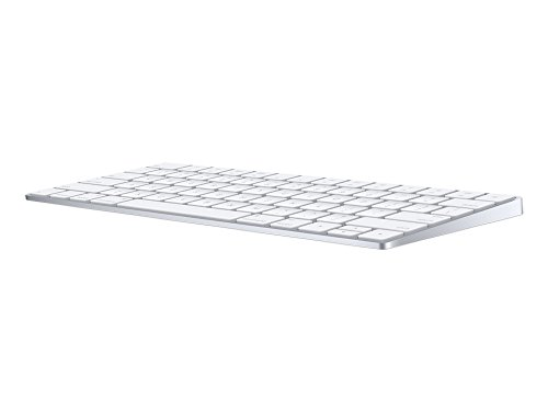 Apple Magic MLA22D/A Tastatur (QWERTZ, Multimediatasten,Wiederaufladbar) Silber / Weiß - 2