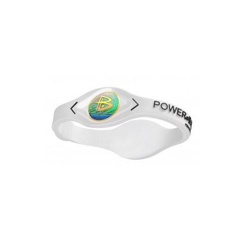 Power Balance weiß Silikonarmband mit schwarzer Schrift XL IWSA09WT00BKXP