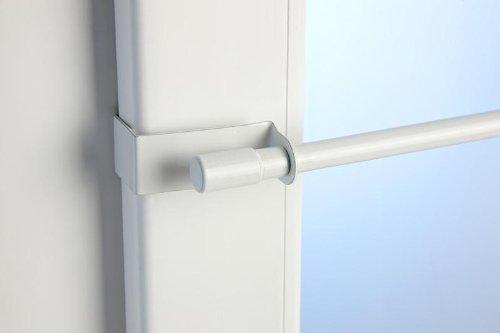 Klemmstange Easy Fix 2 Größen 2 Farben ausziehbar ohne Bohren Vitrage zum Klemmen Klemmstange 75-125cm weiß