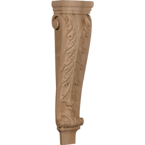 Pilaster Corbel (Ekena Millwork CORW07X04X27PAMA 6 3/4-Inch W x 4 1/4-Inch D x 27 1/2-Inch H Extra Large Acanthus Pilaster Corbel, Hard Maple by Ekena Millwork)