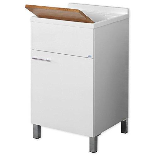 Feridras mondo lavatoio, legno_composito, bianco, 50x45x83 cm