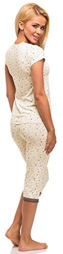 Merry Style Damen Schlafanzug Modell 962 Ecru