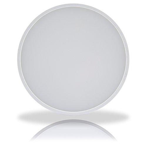 LED Design Deckenleuchte Wandleuchte rund extra dünn warmweiß 3000K weiß 12W = 60W