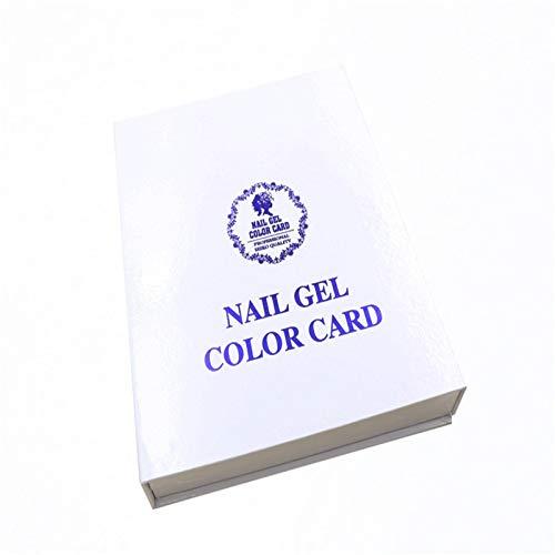Nagellack Display Chart Nail Shop Dedicated 120 Color Card Book Hochwertige Nagelöl Kleber Anzeigetafel Salon Color Card Nagellack Display Organizer
