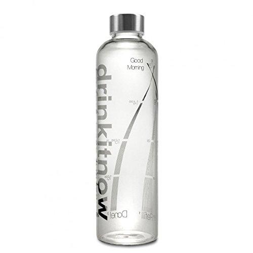 Trinkflasche von Drinkitnow - Logo in Schwarz 1 Liter