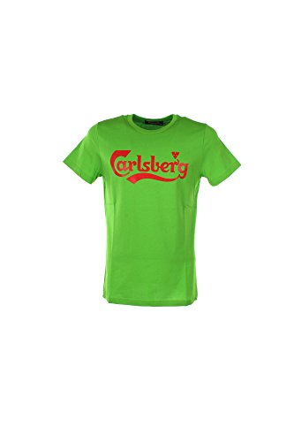 T-shirt Uomo Carlsberg M Verde Cbu2504 1/7 Primavera Estate 2017