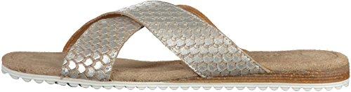 Tamaris 1-27110-28 Damen Pantoletten Silber