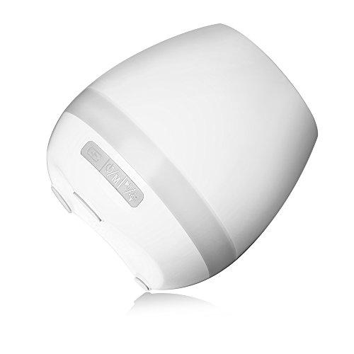 Smart Music impermeabile Flowerpot, Touch Plant pianoforte musica giocare vaso di fiori con LED colore chiaro rotonda vasi e Bluetooth wireless speaker per ufficio/casa Yellow