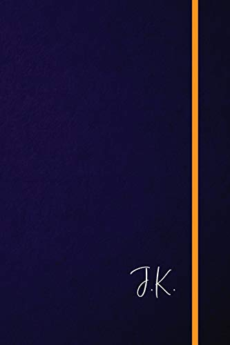 J.K.: Classic Monogram Lined Notebook Personalized With Two Initials - Matte Softcover Professional Style Paperback Journal Perfect Gift for Men and Women