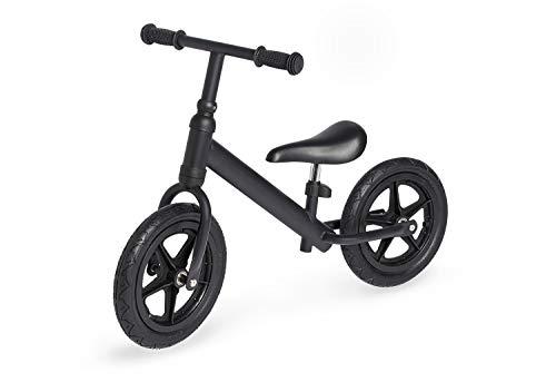 Pinolino Laufrad Lee, Metall, unplattbare Bereifung, Sattel stufenlos höhenverstellbar, für Kinder von 3 - 5 Jahren, schwarz matt