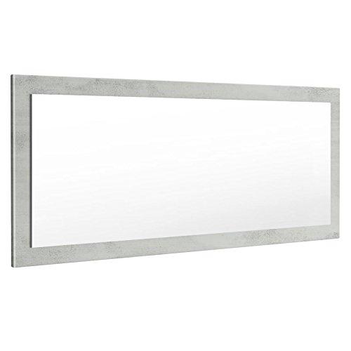 Vladon Spiegel Wandspiegel Lima 139cm in Beton Oxid Optik