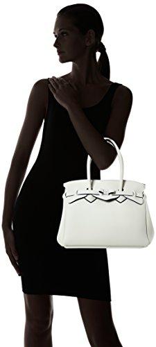 save my bag Miss, Borsa a Mano Donna, 34x29x18 cm (W x H x L) Avorio (Avorio)