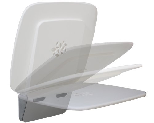 Coram pro Med 300, Duschklappsitz weiß, Befestigung chrom rostfrei stabile Ausführung, 3020SD69NT