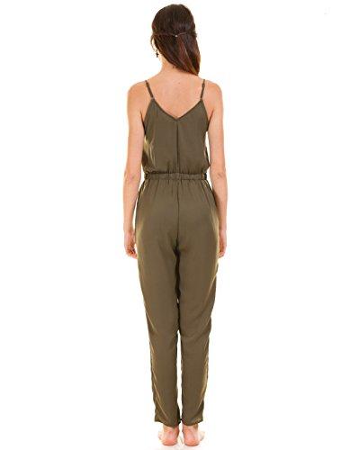 VILA CLOTHES Damen Vilany Jumpsuit, Grau (Granite Grey) - 7