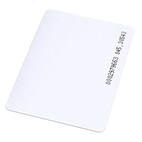 30Stück RFID 125KHz Proximity ID Karte TK4100(dünn Karte) kompatibel mit EM4100Unterstützung ID-Smart-Entry Access Control System, Schlüssel Karte, (Mitgliedschaft Stärke 0,8mm) Proximity Access Control System