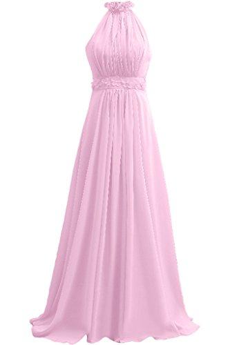 TOSKANA BRAUT Liebling Neckholder A-Linie Abendkleider Mit Blumen Party  Fest Ballkleider Rosa