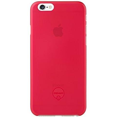 Ozaki 0.3 Jelly - Carcasa ultrafina para Apple iPhone 6 (incluye protector de pantalla) rojo