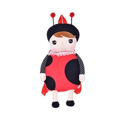 Atmny Cartoon Schultaschen Kinder Puppe Plüschtier Schulranzen Kinder Umhängetasche Für Kindergarten Mädchen Rucksack MeToo Puppe 49 * 25 cm (Valentines Hund Stofftier)