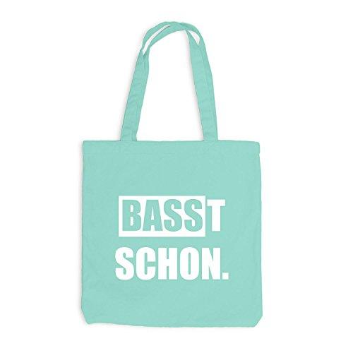Jutebeutel - Basst Schon - Style Bass Mint