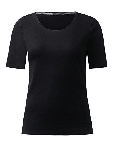 Cecil Damen T-Shirt Schwarz (Black 10001)