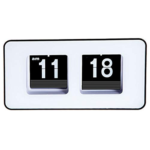 WOVELOT Reloj De Escritorio para Voltear Auto Digital Relojes De Alarma De Voltear PáGina De Escritorio...