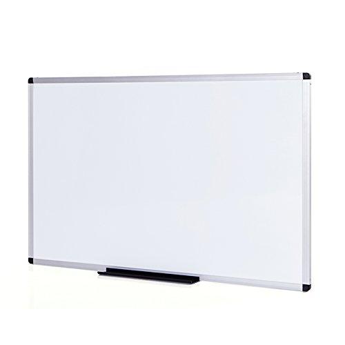 VIZ-PRO Pizarra blanca magnética con marco de aluminio, 1200 x 600mm