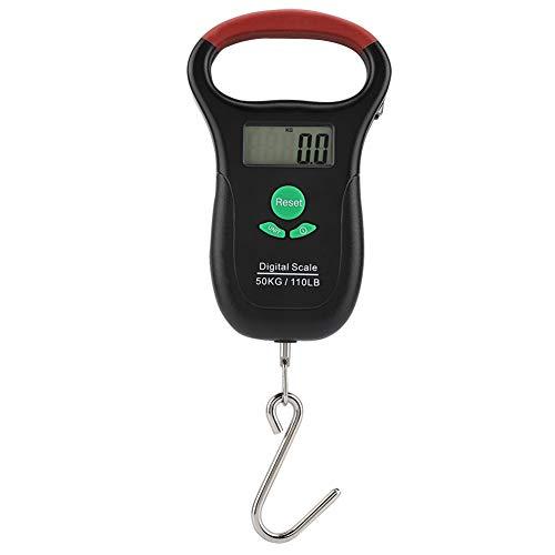 Cafopgrill 50 kg / 10 g Digitale elektronische tragbare Hängethermometer Kapazität Wiegeeinrichtung mit Maßband (Zu Lesen, Wie Maßband Ein)